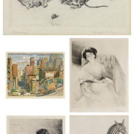 Ralph Thompson-Winifred Austen-Otto Goetze-Otto Goetze, Winifred Austen, Ralph Thompson - A Small Collection of Nineteenth and early Twentieth Century Prints