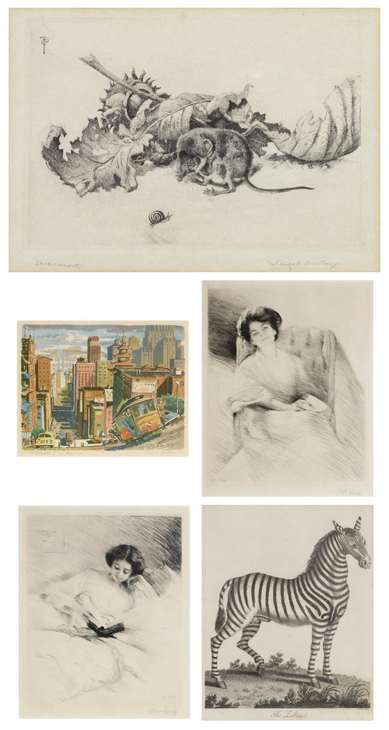Ralph Thompson-Winifred Austen-Otto Goetze-Otto Goetze, Winifred Austen, Ralph Thompson - A Small Collection of Nineteenth and early Twentieth Century Prints-