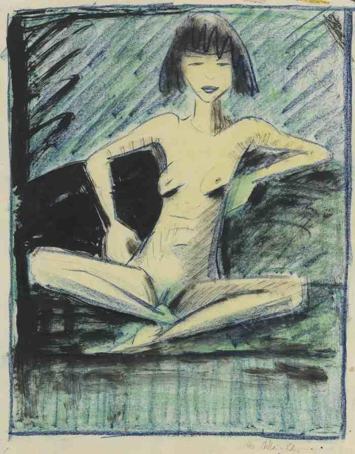 Otto Mueller-Junge Zigeunerin (Young Gypsy)-1926