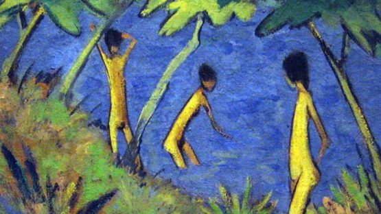 Otto Mueller - Landscape with Yellow Nudes (detail) - 1919 - MoMA