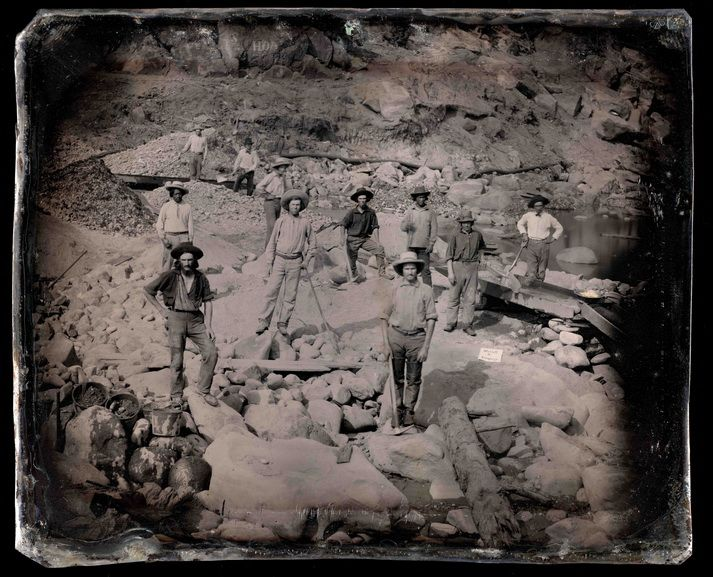 Outdoor View of Miners from Sterrett & Company