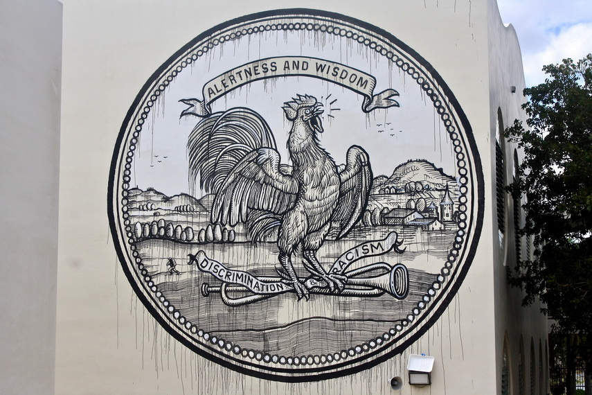Ozmo - Grab this cock, 2016 - the RAW project, Wynwood, Miami, closer view - photos by Arnold R MelgarFoundation 2 F.A.M.E.