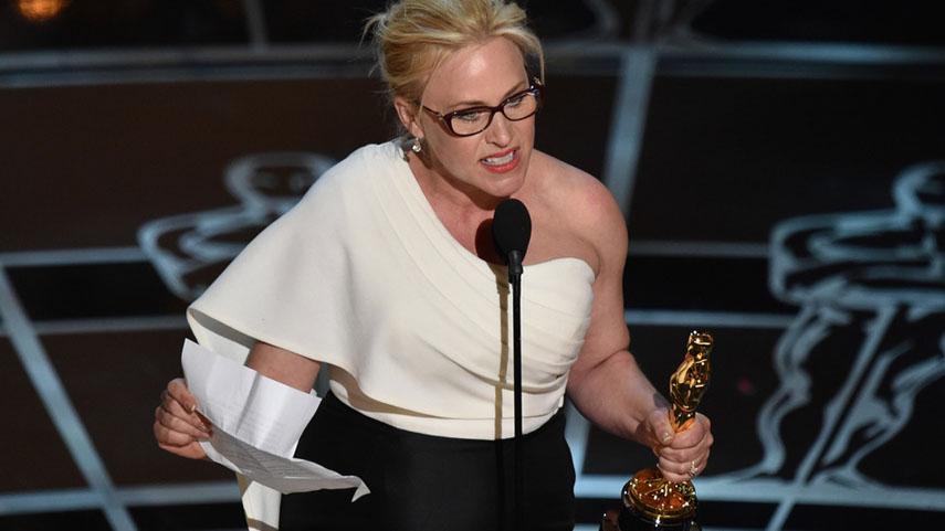Patricia Arquette during her Oscar acceptance speech