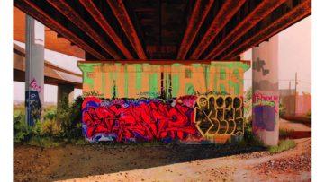 Jessica Hess - Underpass II, 2016 © Plastic Murs