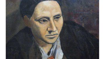 Pablo Picasso – Gertrude Stein detail