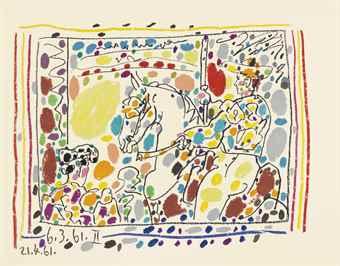 Pablo Picasso-A La Toros, Andre Sauret Editeur, Monte Carlo; XXe Siecle, L'Ecriture Plastique-1961