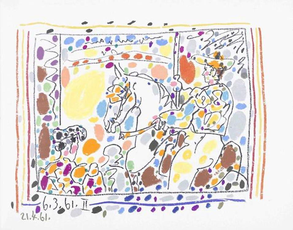 Pablo Picasso-A Los Toros avec Picasso by Jaime Sabartes (B. 1014-47; C. bk. 113)-1961