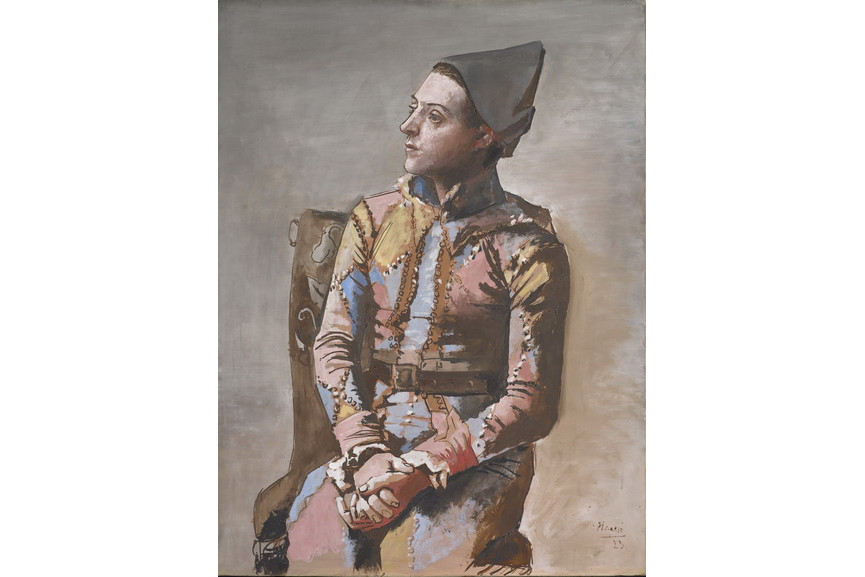 Pablo Picasso - Arlequin assis
