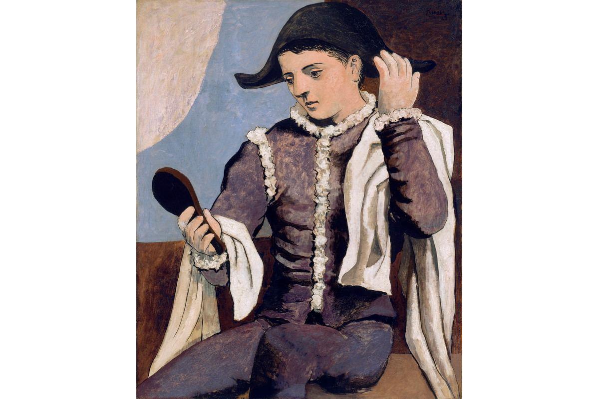 Pablo Picasso - Arlequin au miroir