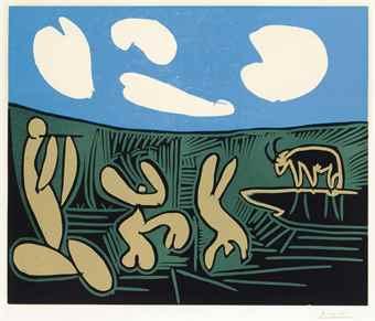 Pablo Picasso-Bacchanale a L'acrobate-1959