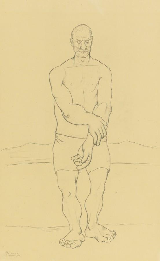 Pablo Picasso-Baigneur-1919