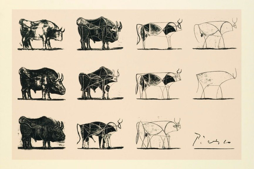 Pablo Picasso - Bull, plates I to XI, 1945