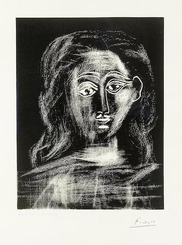 Pablo Picasso-Buste de Femme-1962