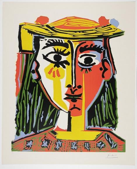 Pablo Picasso - Buste de Femme au Chapeau