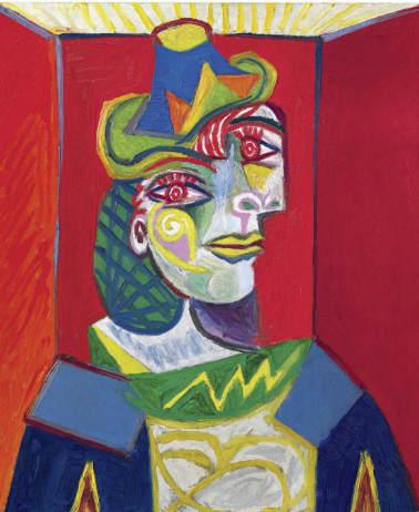 Pablo Picasso-Buste de femme (Femme à la résille)-1938