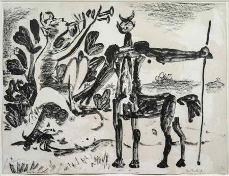 Pablo Picasso-Centaure et Bacchante avec un Faune-1947