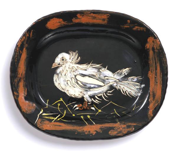 Pablo Picasso-Colombe Sur Lit De Paille (Dove On Straw Bed)-1949