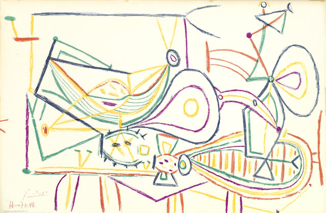 Pablo Picasso-Composition, from School Prints-1948