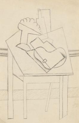 Pablo Picasso-Compotier Et Instruments De Musique Sur Une Table Carree-1916