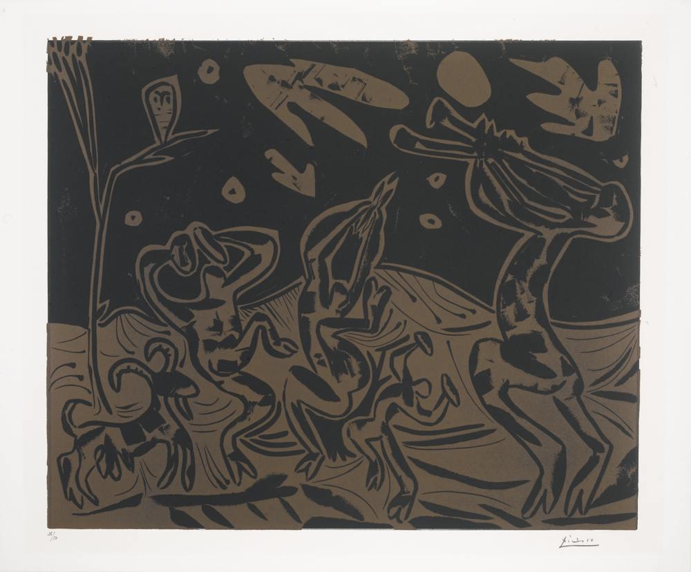 Pablo Picasso-Danse Nocturne Avec Un Hibou-1959