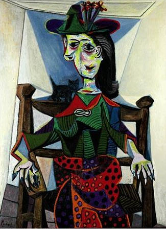 Pablo Picasso-Dora Maar au chat-1941