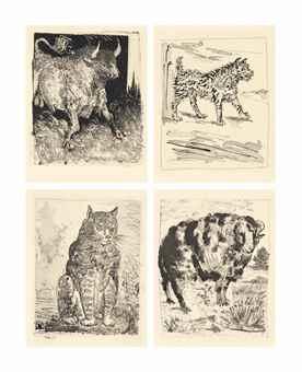 Pablo Picasso-Eaux-fortes originales pour des Textes de Buffon, Martin Fabiani, Paris-1942