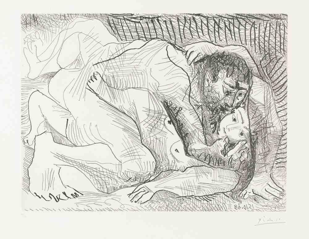 Pablo Picasso-Etreinte II-1963