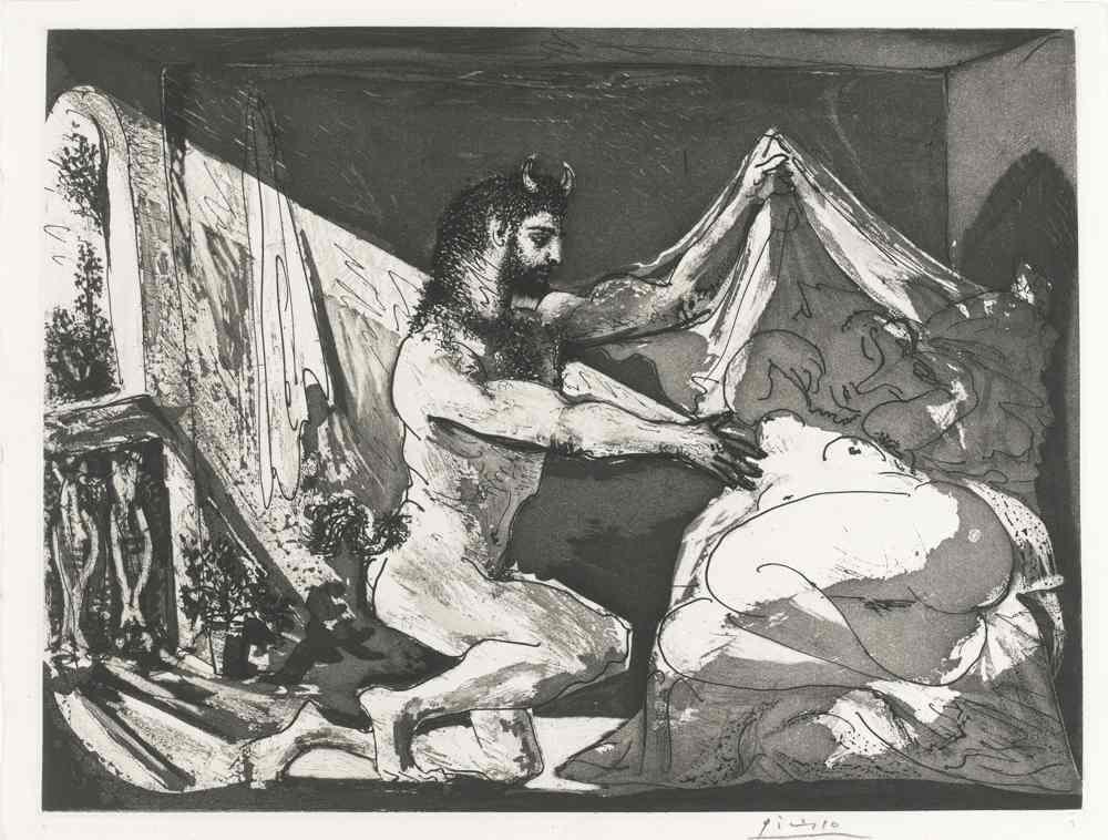 Pablo Picasso-Faune Devoilant Une Femme-1936