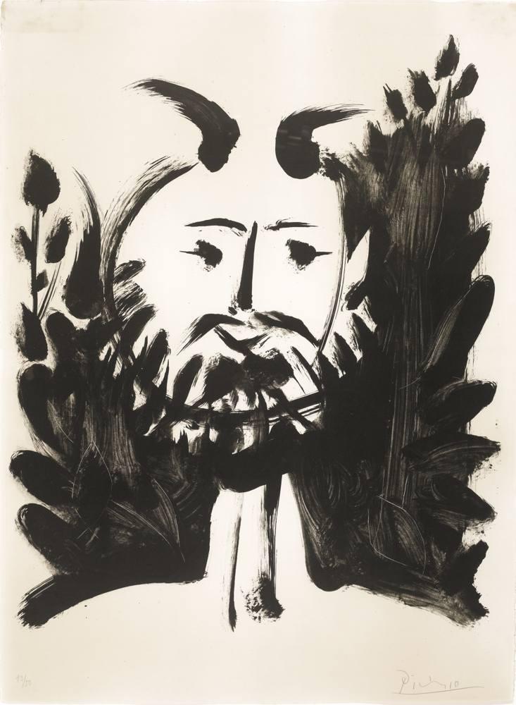 Pablo Picasso-Faune Souriant-1948
