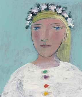 Pablo Picasso-Femme a la couronne de fleurs (Marie-Therese)-1937
