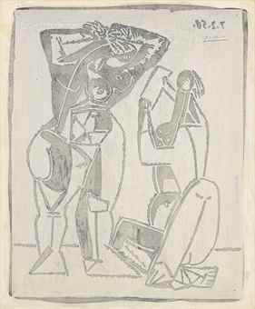 Pablo Picasso-Femme au Miroir-1964