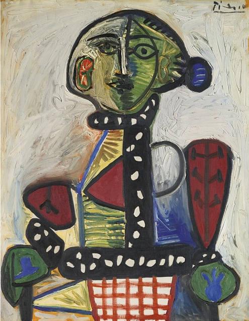 Pablo Picasso-Femme au chignon dans un fauteuil-1948