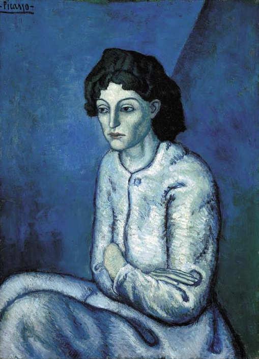 Pablo Picasso-Femme aux bras croisés-1902
