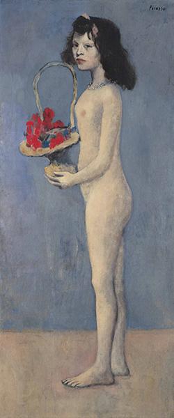 Pablo Picasso - Fillette à la corbeille fleurie, 1905
