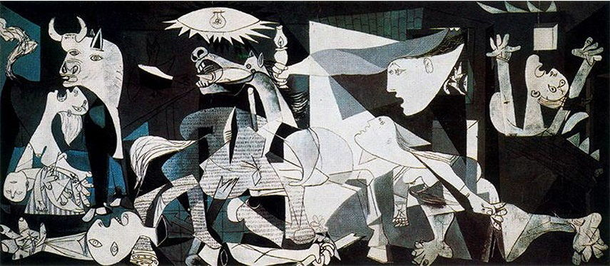 Pablo Picasso - Guernica, 1937 can be seen as one of the most important political art pieces in the history