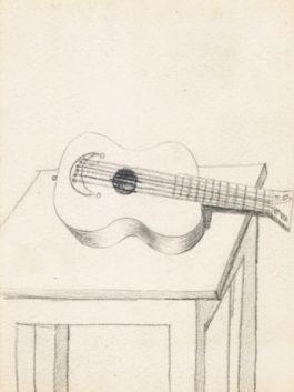 Pablo Picasso-Guitare Sur Une Table - Recto; Doigt Avec Bague - Verso-1919