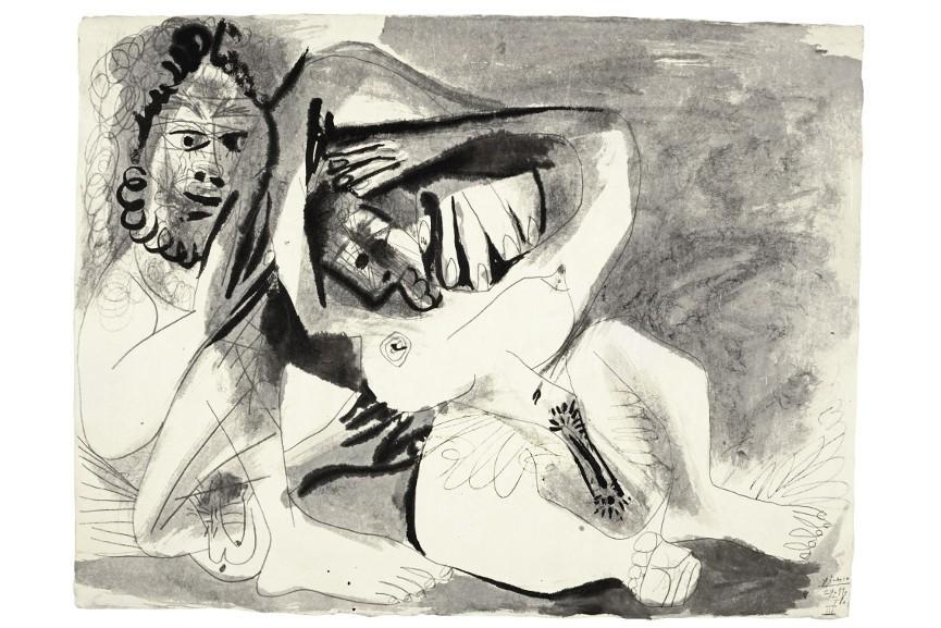Pablo Picasso - Homme Et Femme Nus, 1971