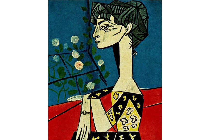 Pablo Picasso - Jacqueline With Flowers, 1954,
