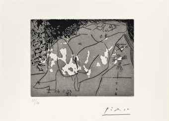 Pablo Picasso-Jeune Femme et Mousquetaire, from: Series 347-1968