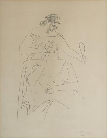 Pablo Picasso-La Coiffure-1923