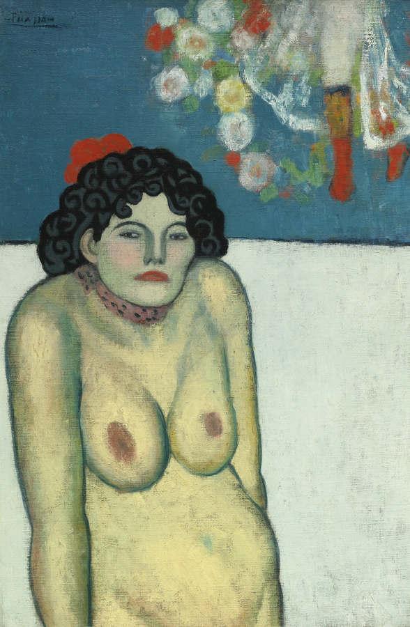 Pablo Picasso-La Gommeuse-1901