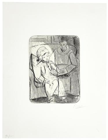 Pablo Picasso-La Lecture-1926