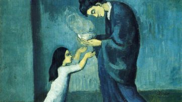 Pablo Picasso - La Soupe (The Soup), 1902-1903, woman gallery