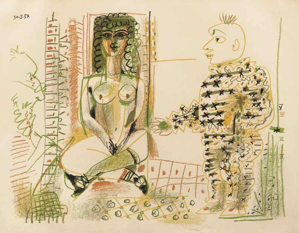 Pablo Picasso-Le Peintre Et Son Modele-1954