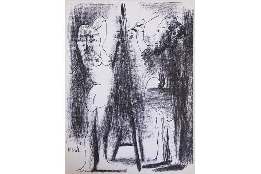 Pablo Picasso - Le Peintre et Son Modele, 1964