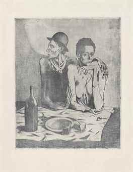 Pablo Picasso-Le Repas Frugal, from La Suite des Saltimbanques-1904