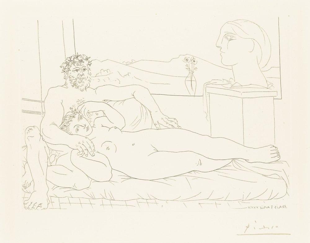 Pablo Picasso-Le Repos Du Sculpteur, II-1933