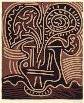 Pablo Picasso-Le Vase de Fleurs-1959