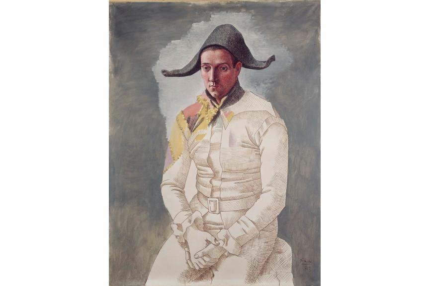 Pablo Picasso - Le peintre Salvado en arlequin