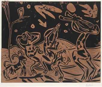 Pablo Picasso-Les Danseurs au Hibou-1959